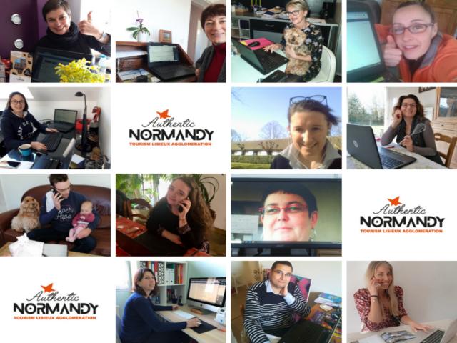 L'équipe d'Authentic Normandy en télétravail